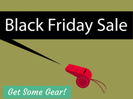 """Graphic that says, """"Black Friday Sale, Get Some Gear"""""""